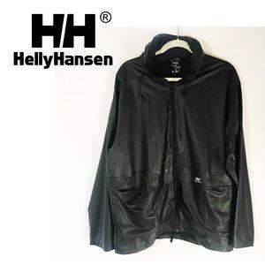 Helly Hansen Black Rain Coat Jacket Waterproof M